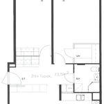 3 huoneen asunto 73 m² kaupungissa Varkaus