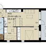 58 m² yksiö kaupungissa Espoo