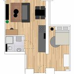 2 bedroom apartment of 46 m² in Tilburg