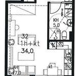 34 m² yksiö kaupungissa Turku