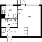 1 huoneen asunto 32 m² kaupungissa Jämsä
