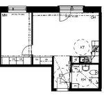43 m² yksiö kaupungissa Espoo