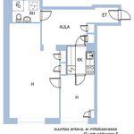 1 huoneen asunto 53 m² kaupungissa Helsinki
