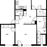 3 huoneen asunto 81 m² kaupungissa Joensuu
